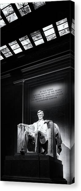 Lincoln Memorial Canvas Print - Abraham Lincoln Seated by Andrew Soundarajan