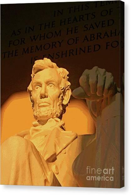Abraham Lincoln Sunrise Canvas Print