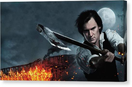 Republican Presidents Canvas Print - Abraham Lincoln Vampire Hunter by Maye Loeser