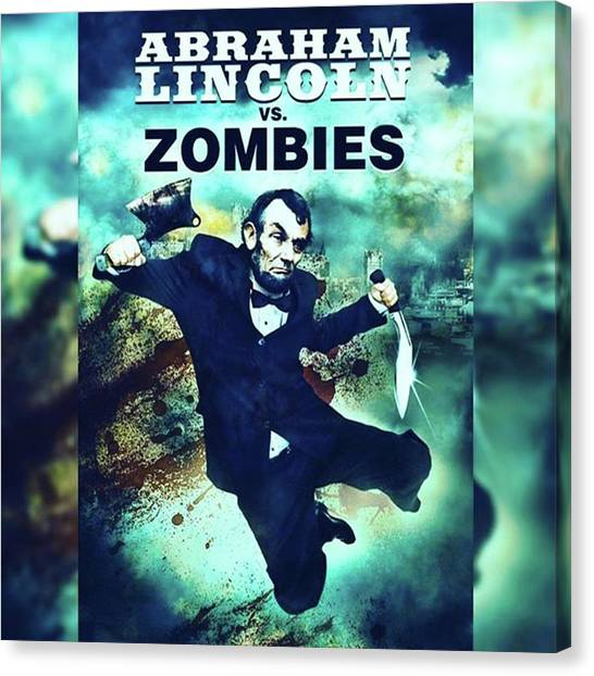 Independent Canvas Print - abraham Lincoln Vs. Zombies, The by XPUNKWOLFMANX Jeff Padget