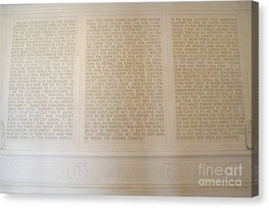 Abraham Lincoln's Second Inaugural Address Canvas Print