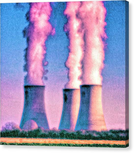 Nuclear Plants Canvas Print - Abraxas 1 by Dominic Piperata