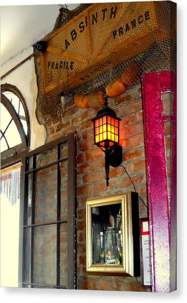 Absinthe Bar Canvas Print by Ted Hebbler