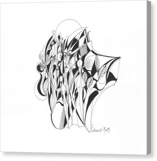 Abstract 1-09 Canvas Print by Padamvir Singh