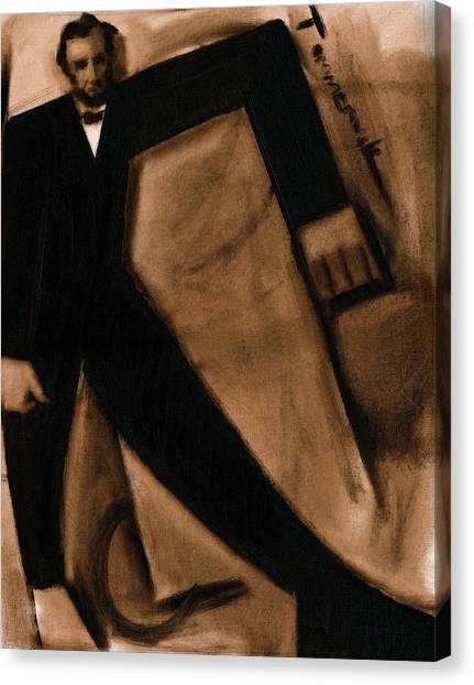 Tommervik Abstract Abraham Lincoln Art Print Canvas Print