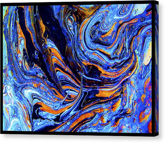 Life Flowing -abstract Acrylic Painting-mix Media #2 Canvas Print