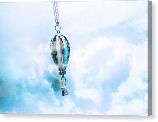 Metal Canvas Print - Abstract Air Baloon Hanging On Chain by Jorgo Photography - Wall Art Gallery