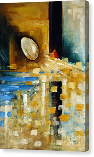Abstract And A Pelican Egg Canvas Print