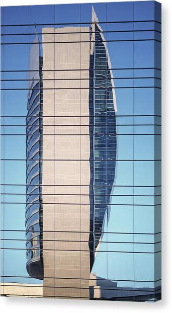 Abstract Architecture - National Bank Of Dubai Canvas Print