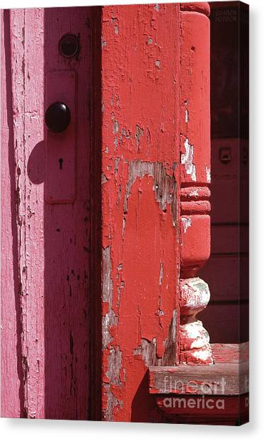 abstract architecture - Red Door Canvas Print