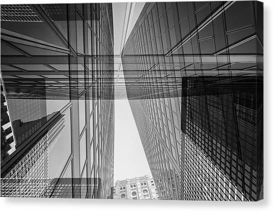 Abstract Architecture - Toronto Financial District Canvas Print