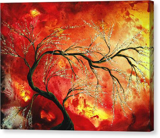 Canvas Print - Abstract Art Floral Tree Landscape Painting Fresh Blossoms By Madart by Megan Duncanson