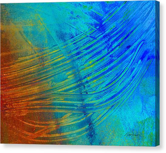 Abstract Art  Painting Freefall By Ann Powell Canvas Print