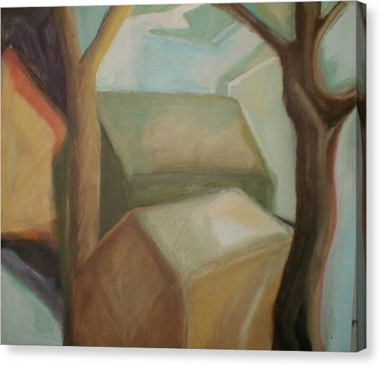 Abstract Backyard Canvas Print
