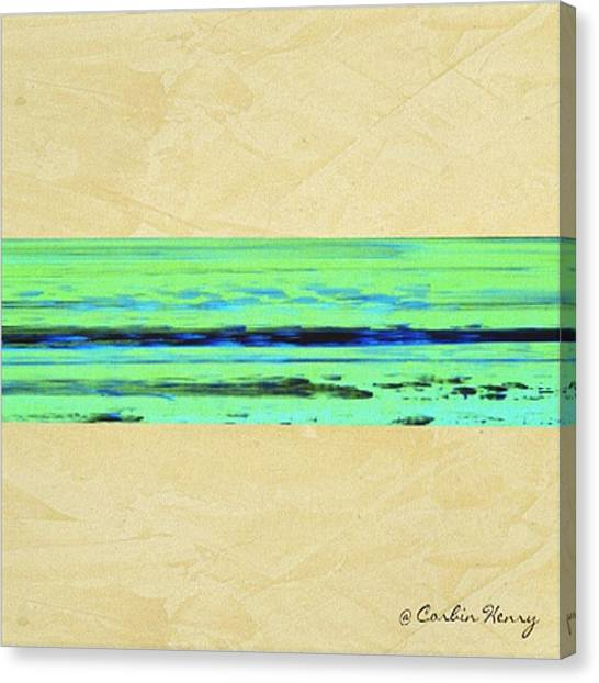 Gerhard Richter Canvas Print - Abstract Beach Landscape  by Corbin Henry