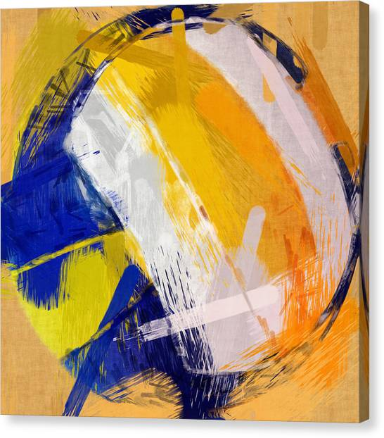 Volleyball Canvas Print - Abstract Beach Volleyball by David G Paul