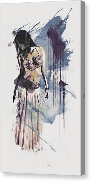 Abstract Bellydancer Canvas Print