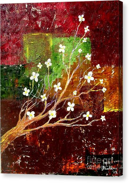 Abstract Blossom Canvas Print by Inna Montano
