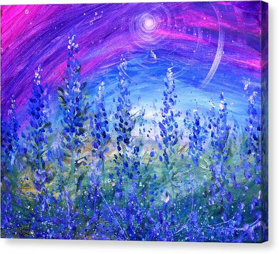 Abstract Bluebonnets Canvas Print