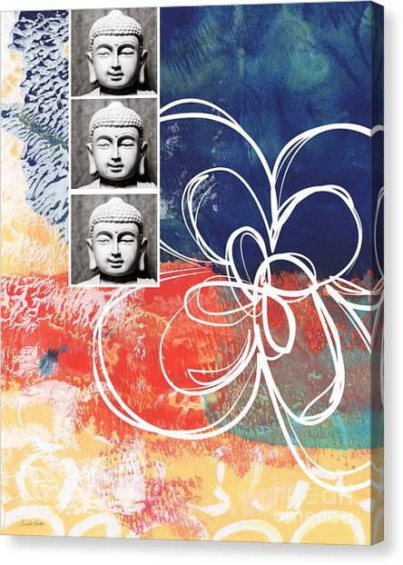 Religious Canvas Print - Abstract Buddha by Linda Woods