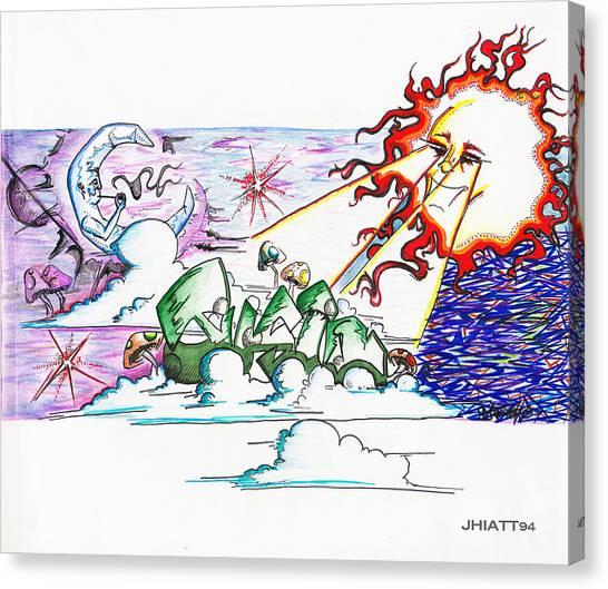 Abstract Celestial Canvas Print