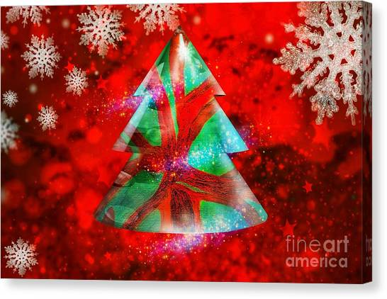 Abstract Christmas Bright Canvas Print