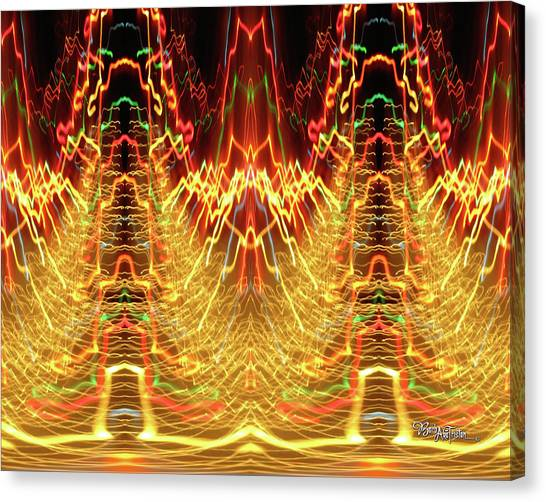Abstract Christmas Lights #175 Canvas Print