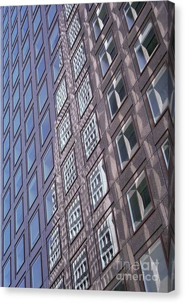 abstract cities architecture photograph - Glass Grid Canvas Print