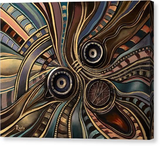 Abstract Clown Canvas Print