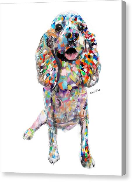 Cocker Spaniels Canvas Print - Abstract Cocker Spaniel by Portraits By NC