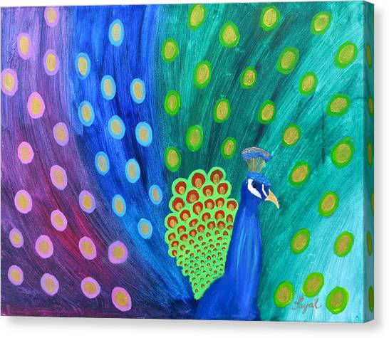 Abstract Colorful Peacock Canvas Print