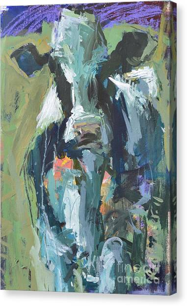Abstract Cow Painting Canvas Print