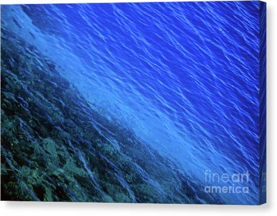 Abstract Crater Lake Blue Water Canvas Print