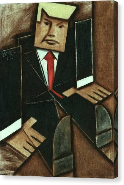 Donald Trump Canvas Print - Tommervik Abstract Donald Trump Art Print by Tommervik
