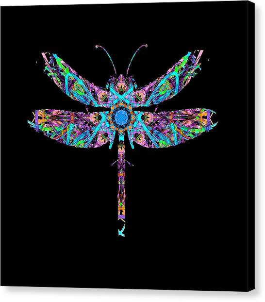 Canvas Print featuring the digital art Abstract Dragonfly by Deleas Kilgore