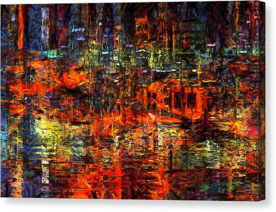 Abstract Evening Canvas Print