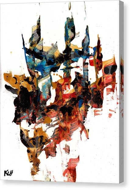 Abstract Expressionism Painting Series 750.102910 Canvas Print