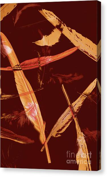 Soft Focus Canvas Print - Abstract Feathers Falling On Brown Background by Jorgo Photography - Wall Art Gallery