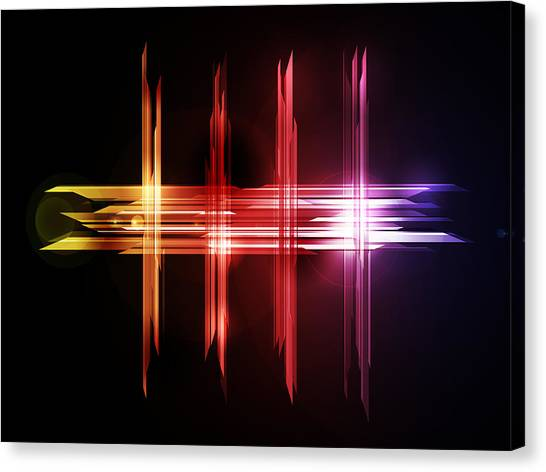 Shapes Canvas Print - Abstract Five by Michael Tompsett