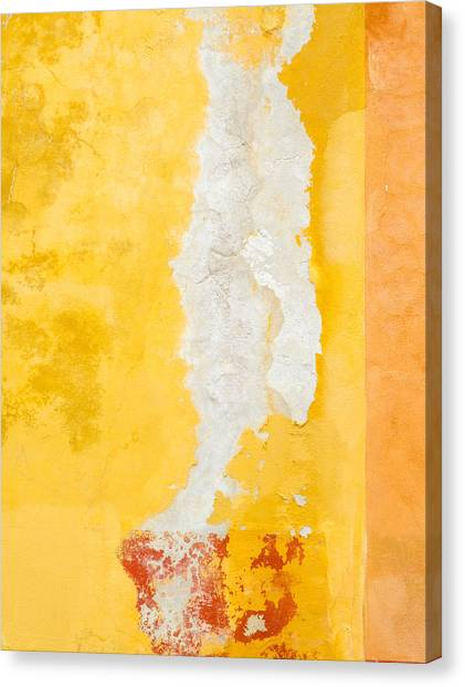 Rights Managed Images Canvas Print - Abstract. Flaking Paint On Stucco. by Rob Huntley