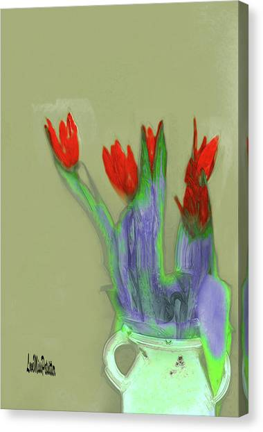 Abstract Floral Art 346 Canvas Print