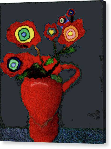 Abstract Floral Art 90 Canvas Print
