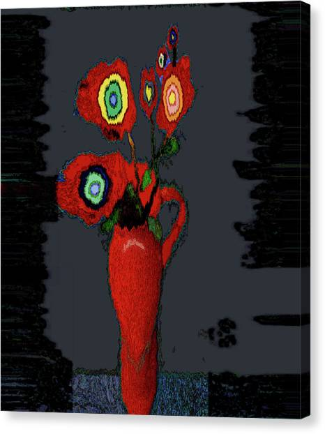 Abstract Floral Art 91 Canvas Print