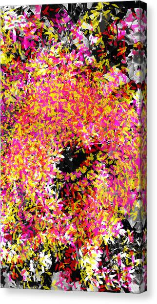 Abstract Floral Swirl No.3 Canvas Print