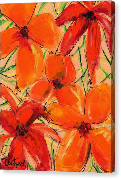 Abstract Floral Two Canvas Print