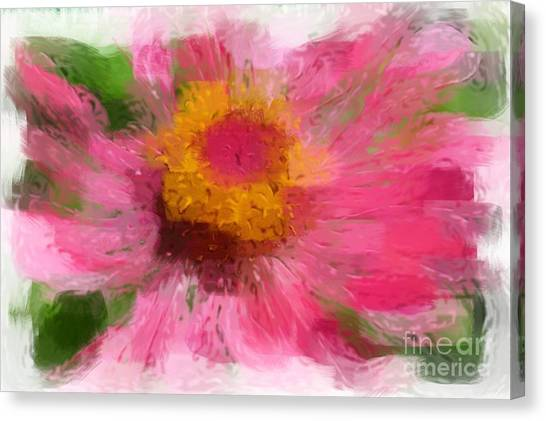 Abstract Flower Expressions Canvas Print