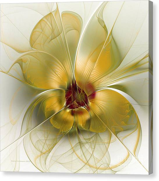 Abstract Flower With Silky Elegance Canvas Print