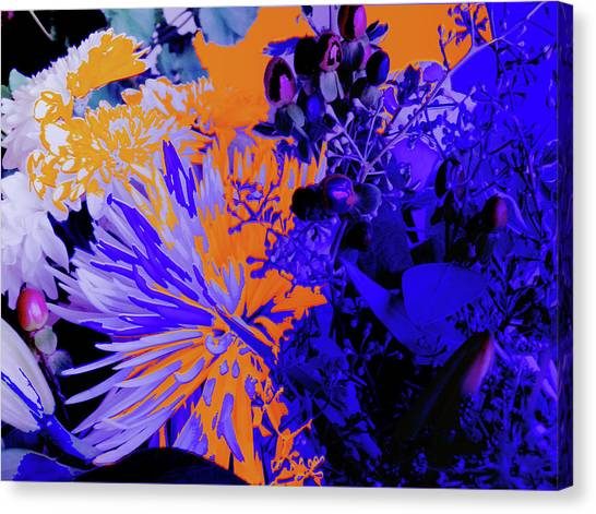 Abstract Flowers Of Light Series #1 Canvas Print