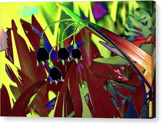 Abstract Flowers Of Light Series #10 Canvas Print