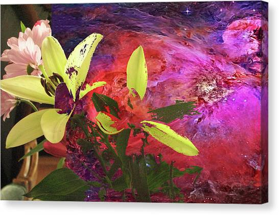 Abstract Flowers Of Light Series #16 Canvas Print